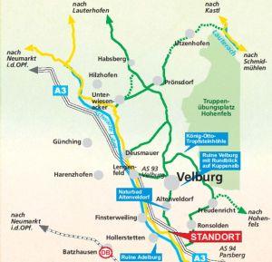 Karte Velburg