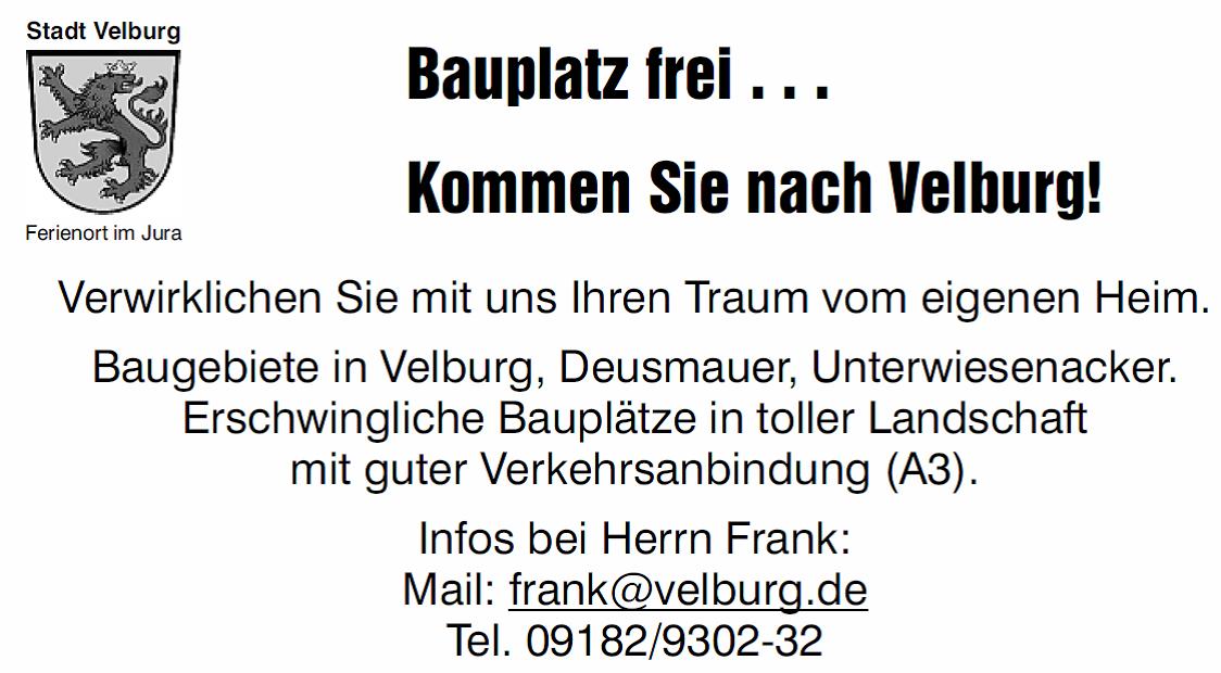 Bauplatz Velburg