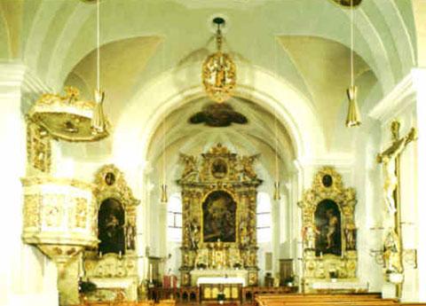 Innenraum Pfarrkirche Günching